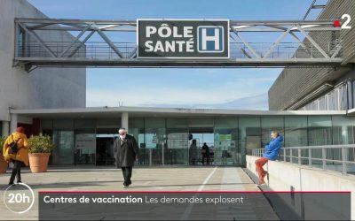 Centre de vaccination de Carpentras : Passage au JT de France 2 et sur France Bleu