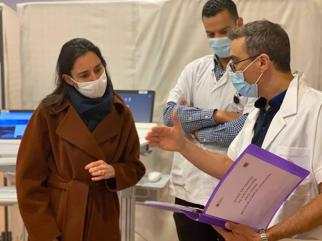 Ouverture du centre de vaccination à l'hôpital